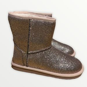 "NWT Joe Fresh Girl's Pink Sparkle ""Ugg"" Boots SZ 3"